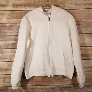 GAP Quilted Knit Zip Up Hoodie Sweater